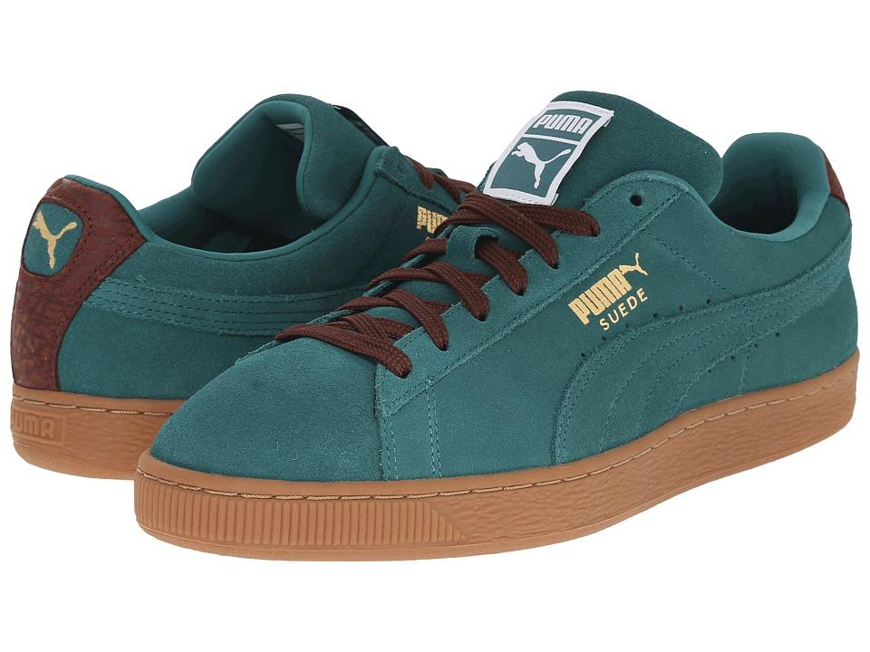 PUMA Suede Classic Casual Storm/Oxblood/Gum Mens Basketball Shoes