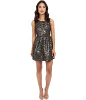 Jack by BB Dakota - Cooper Metallic Brocade Pleated Dress