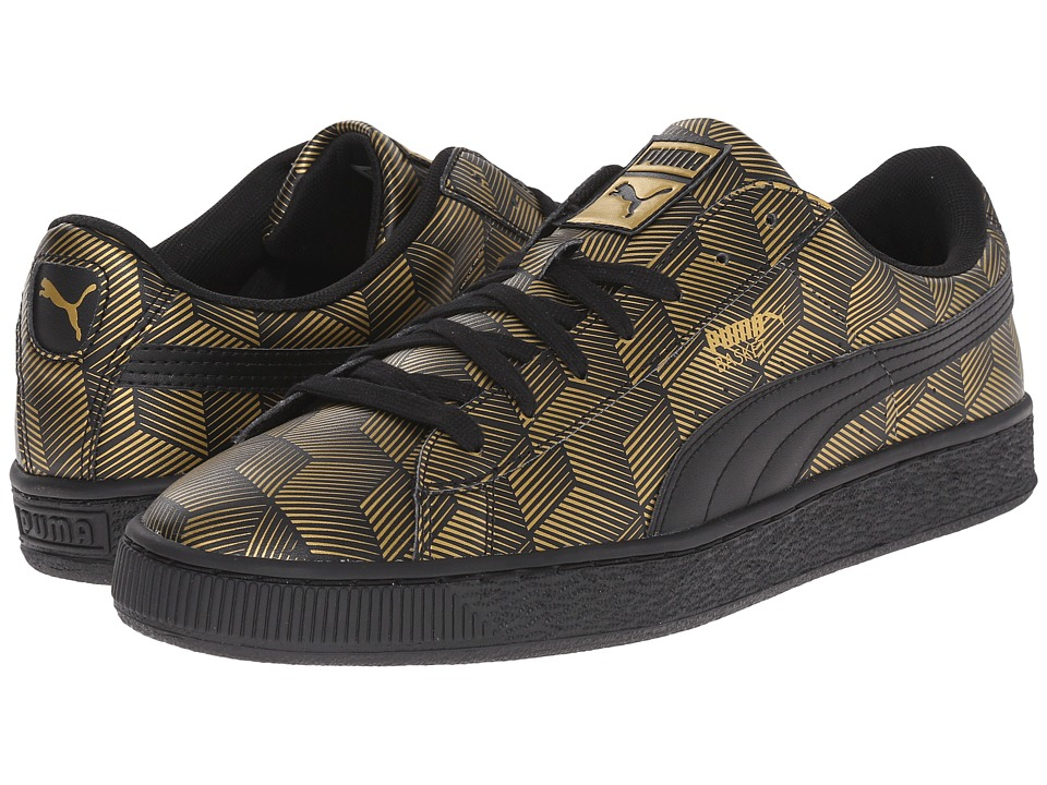 PUMA Basket Classic Metallic Black Mens Basketball Shoes