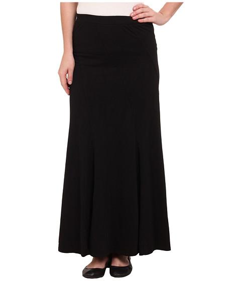 Mod-o-doc - Classic Jersey Seamed Godet Maxi Skirt (Black) Women's Skirt