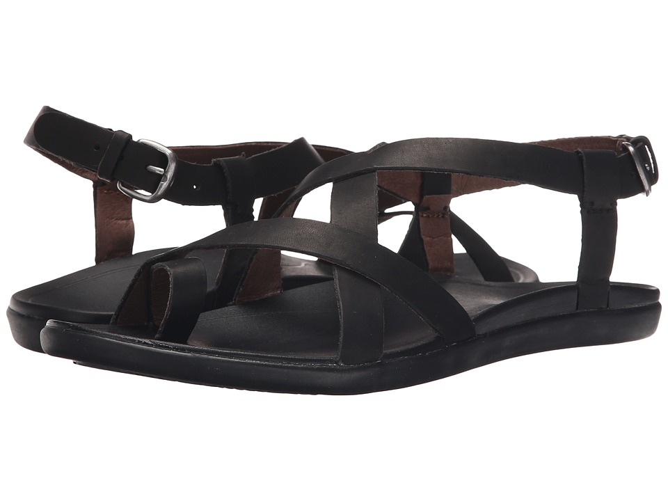 OluKai - Upena (Black/Black) Women's Sandals