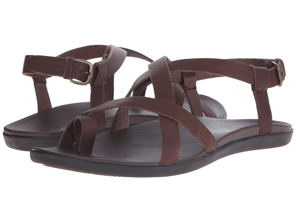 OluKai Upena Kona Coffee/Kona Coffee Womens Sandals