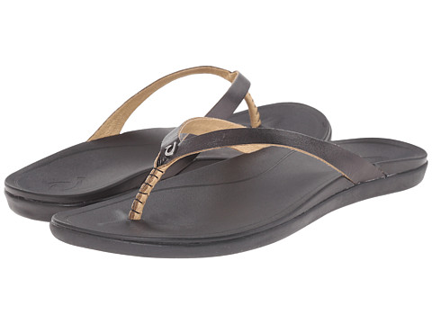 OluKai Ho opio Leather - Onyx/Black