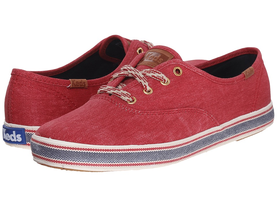 Keds Champion Americana Red Womens Lace up casual Shoes
