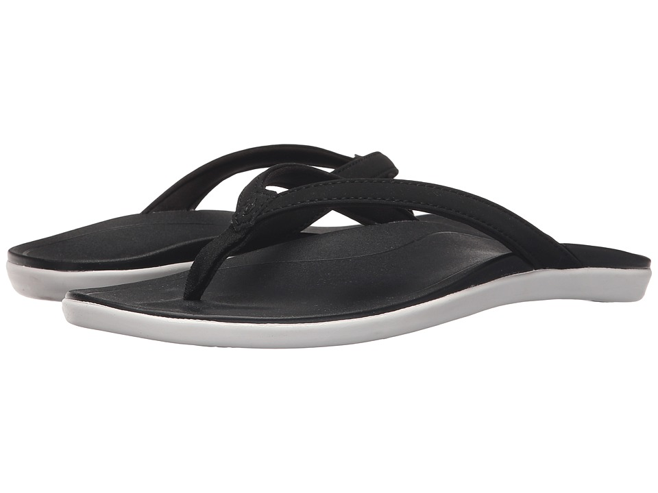 OluKai - Ho'opio (Black/Black) Women's Sandals