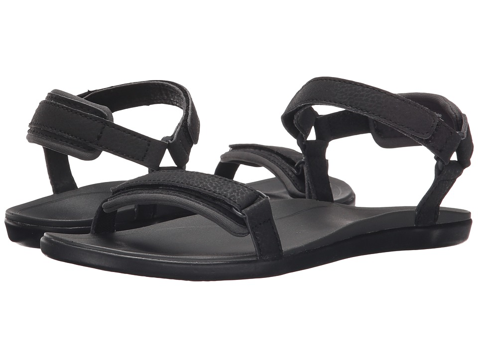 OluKai - Luana (Black/Dark Shadow) Women's Sandals