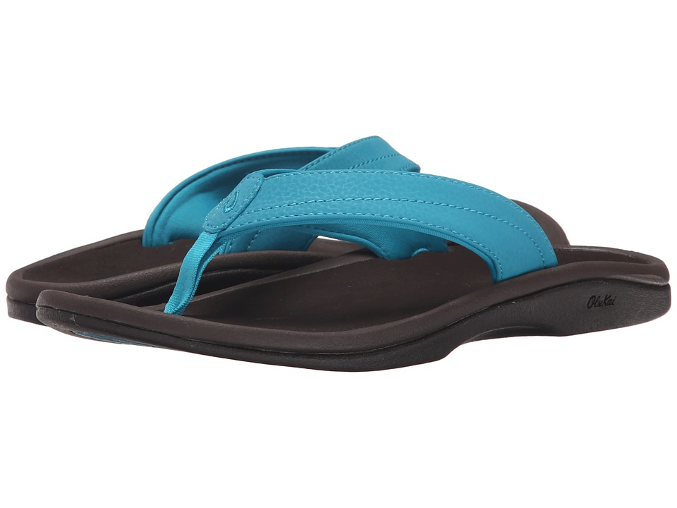 OluKai Ohana W (Tropic Blue/Dark Java) Sandals