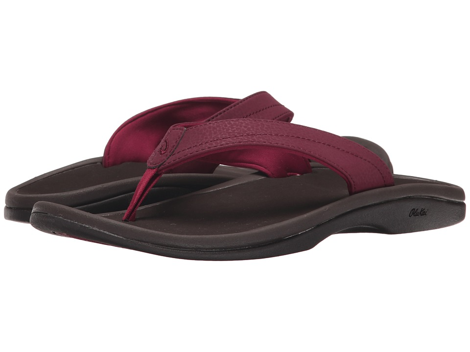 OluKai Ohana W (Pokeberry/Dark Java) Sandals
