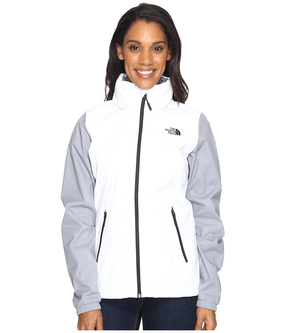 North Face Resolve Plus Jacket (TNF White/Mid Grey) Women...