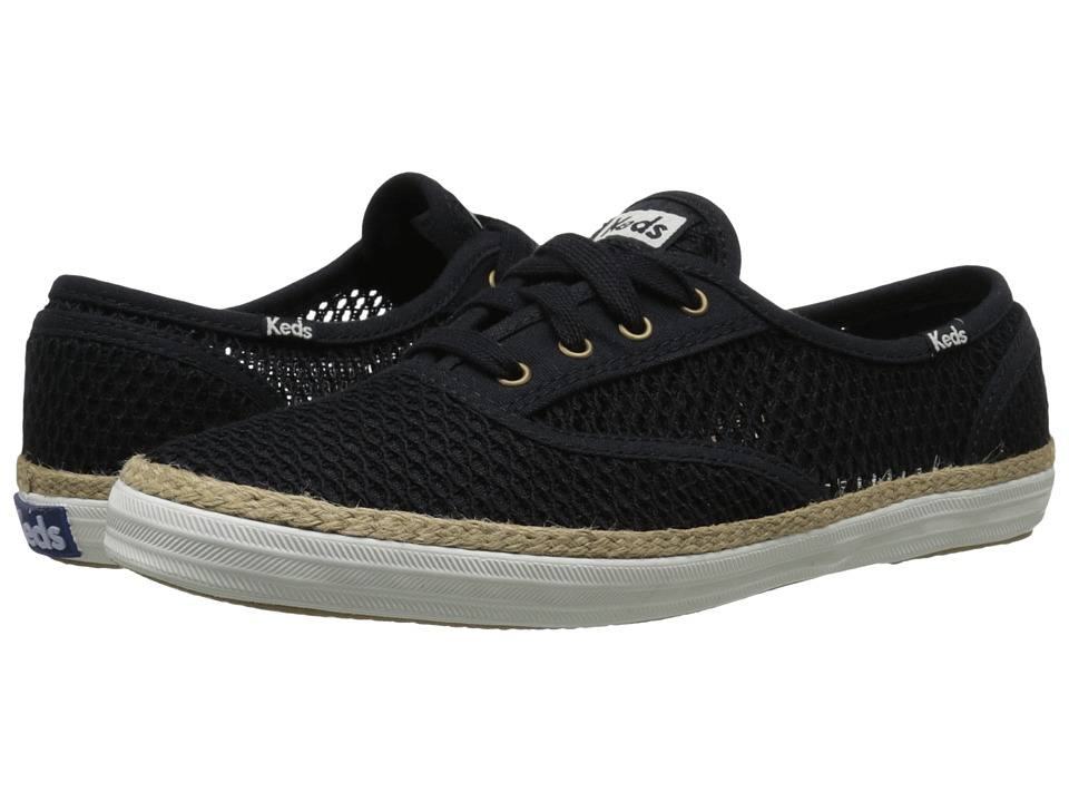 Keds Champion Crochet Black 2 Womens Lace up casual Shoes