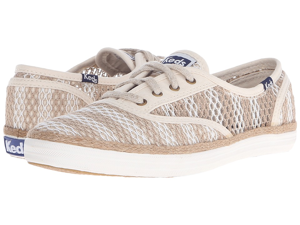 Keds Champion Crochet Stripe Natural/Cream Womens Lace up casual Shoes