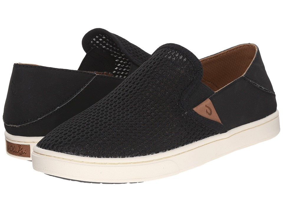 OluKai Pehuea (Black/Black) Slip-On Shoes