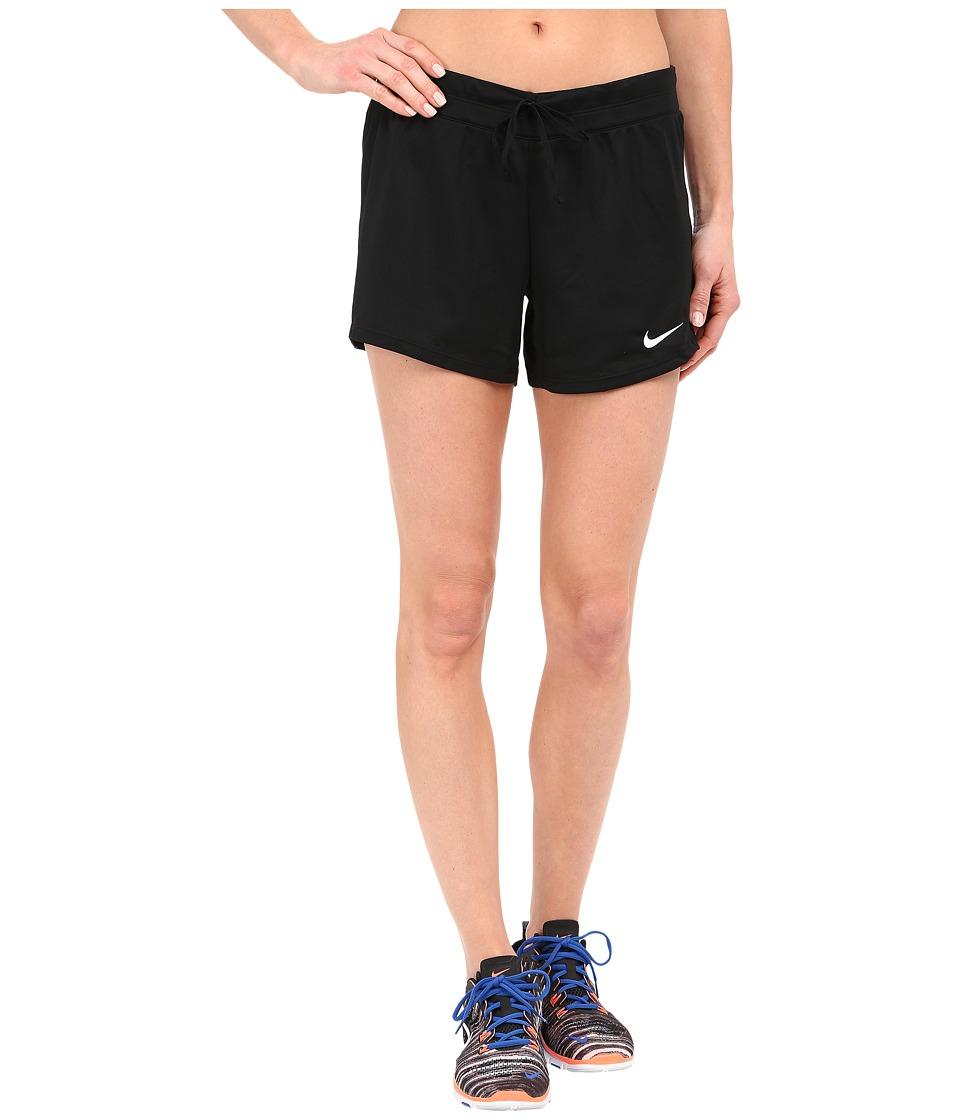 Nike Infiknit Mid Shorts (Black/Black/Black/White) Women