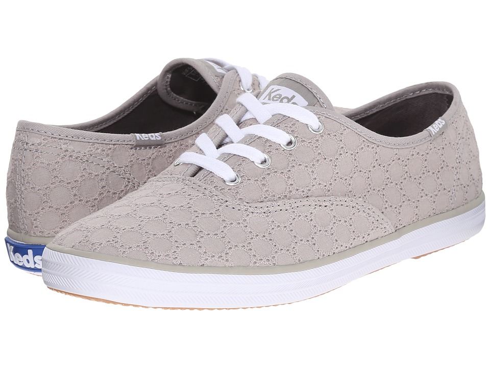 Keds Champion Eyelet Drizzle Gray Womens Lace up casual Shoes