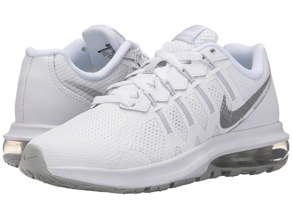 Nike Kids Air Max Dynasty Big Kid White/Pure Platinum/Metallic Silver Boys Shoes
