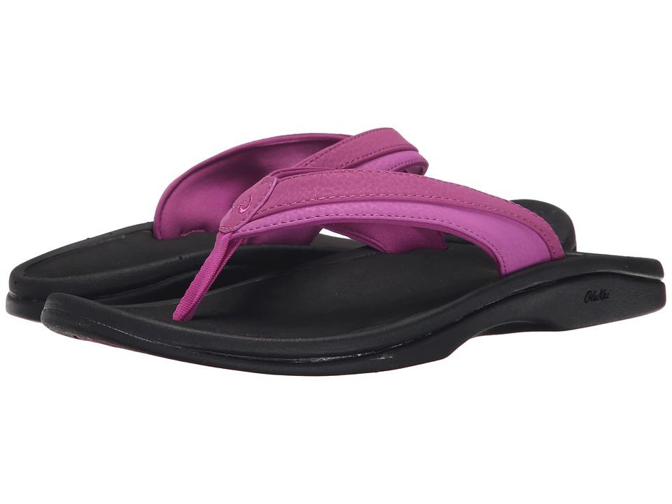 OluKai Ohana W (Bougainvillea/Black) Sandals