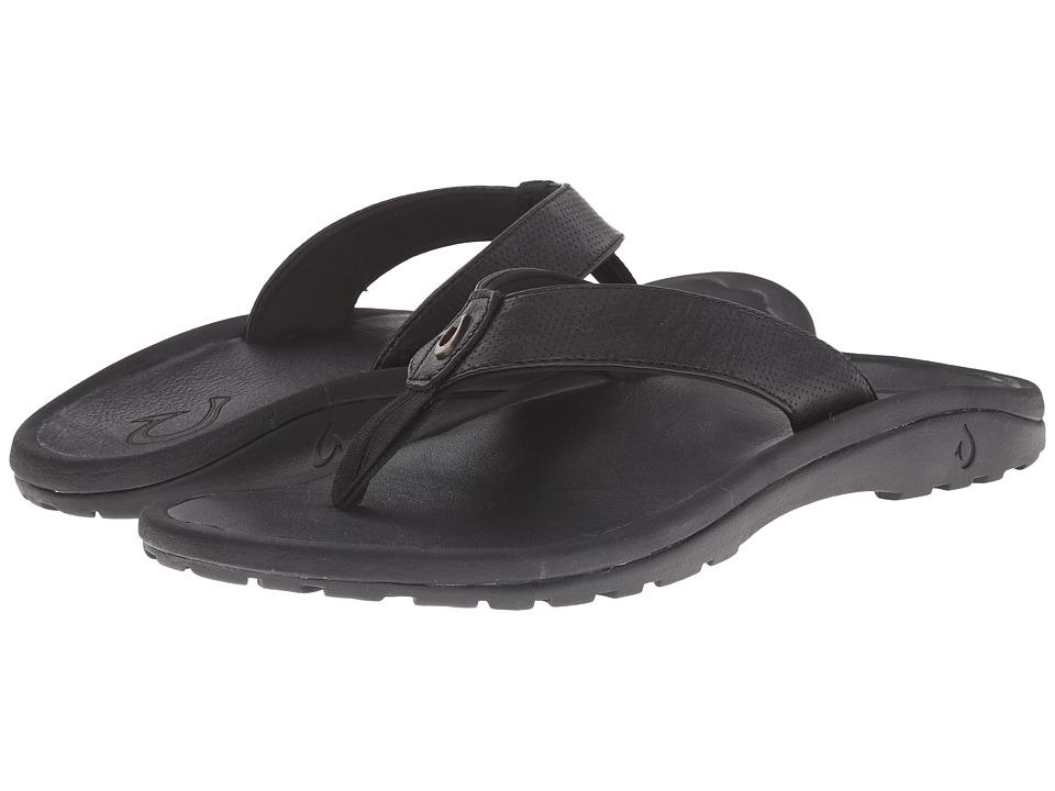 OluKai - Ohana Kupuna (Black/Black) Men's Sandals