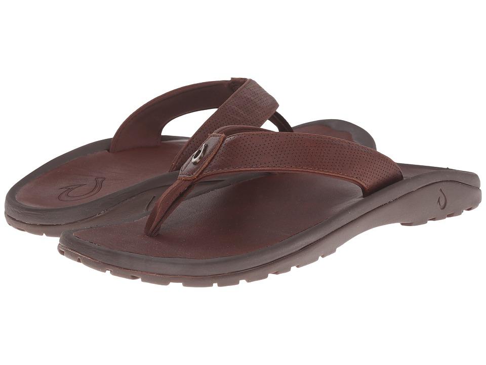 OluKai - Ohana Kupuna (Rum/Rum) Mens Sandals