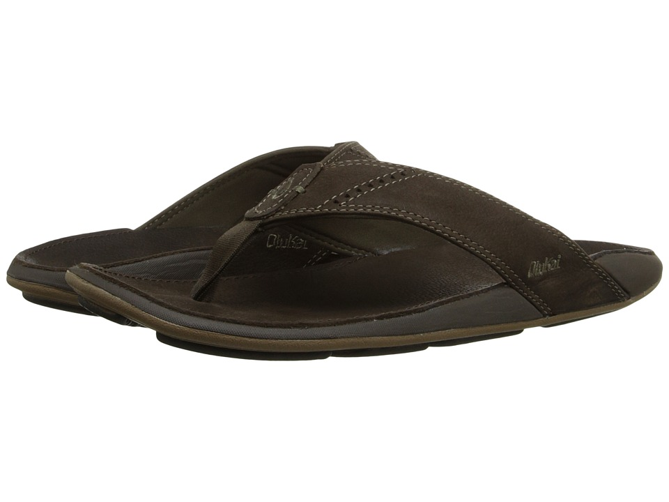 OluKai - Nui (Seal Brown/Seal Brown) Men's Sandals