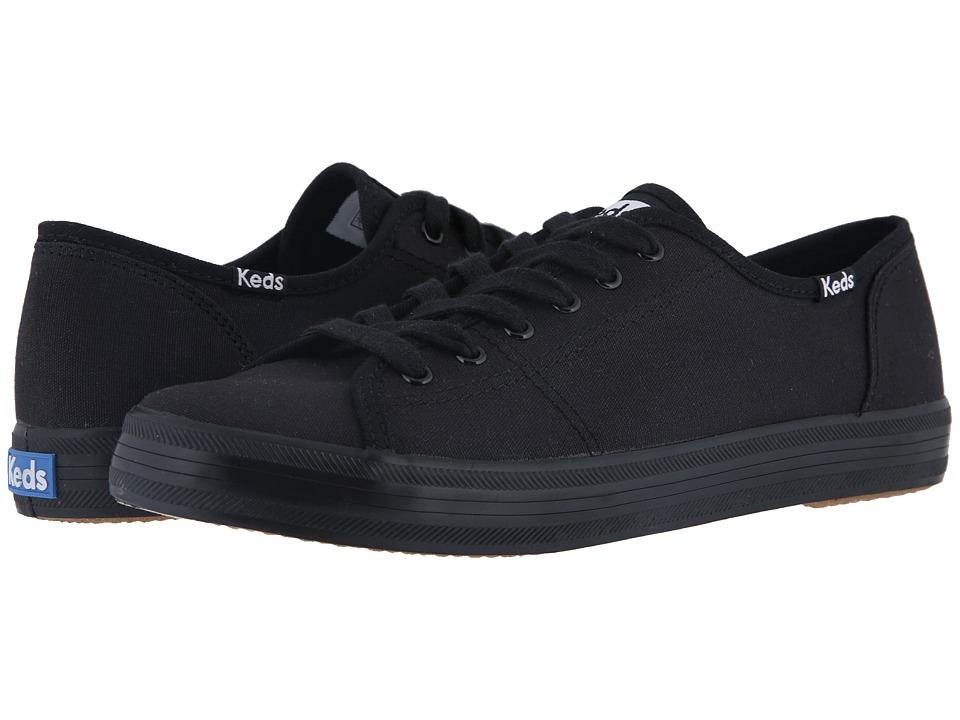 Keds Kickstart (Black/Black) Women's Lace up casual Shoes