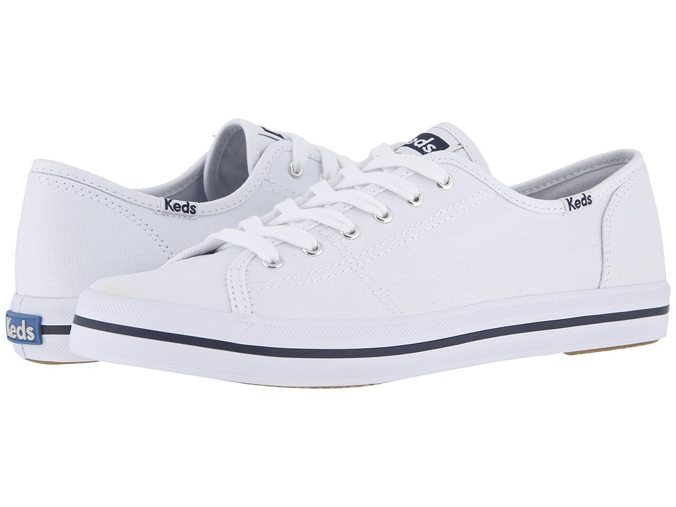 Keds Kickstart White Womens Lace up casual Shoes
