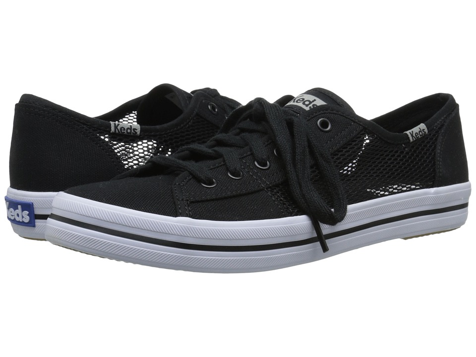 Keds Kickstart Mesh Black Womens Lace up casual Shoes