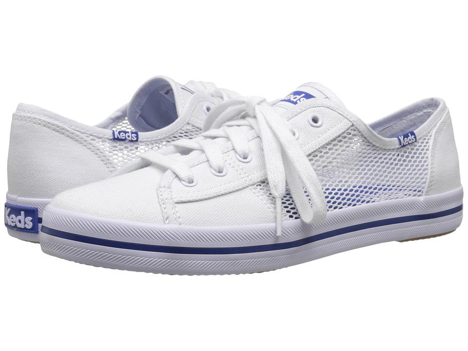 Keds Kickstart Mesh White Womens Lace up casual Shoes