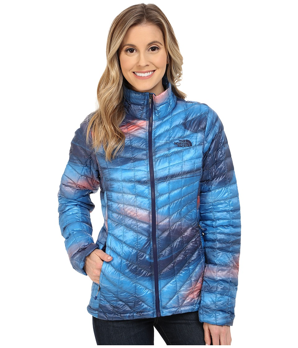 The North Face - ThermoBalltm Full Zip Jacket (Patriot Blue Swirl Print (Prior Season)) Womens Coat