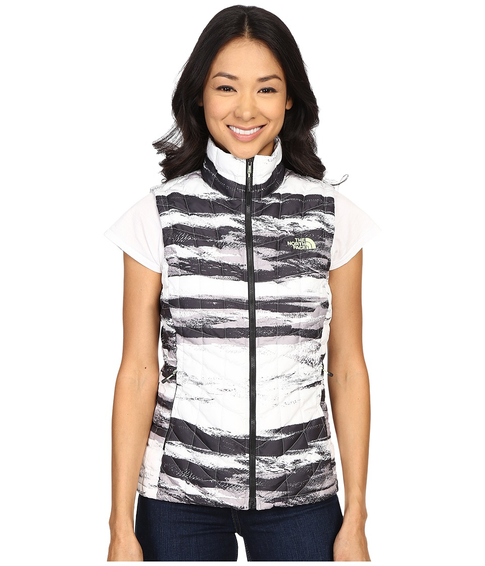 The North Face - ThermoBall Vest (TNF Black Desert Stripe/TNF White) Women