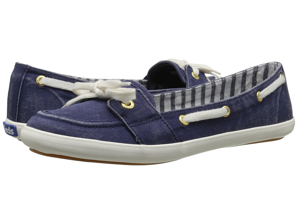 Keds Teacup Boat Seasonal Solid Navy Womens Lace up casual Shoes