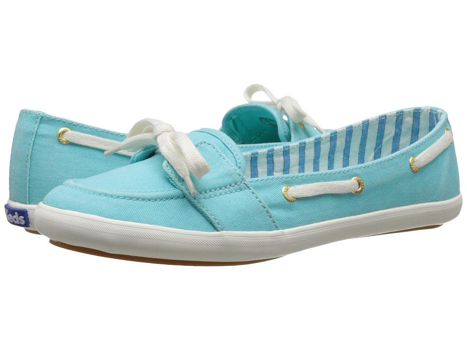 Keds Teacup Boat Seasonal Solid Aqua Womens Lace up casual Shoes