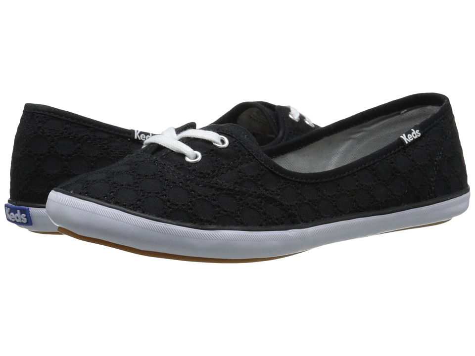 Keds Teacup Eyelet Black Womens Lace up casual Shoes