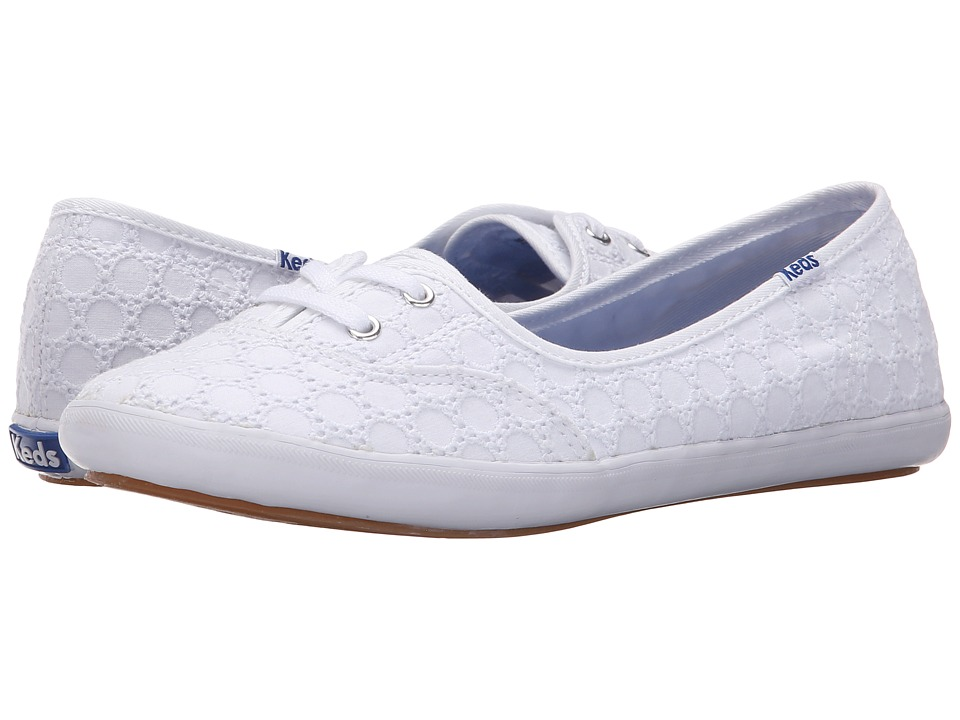 Keds Teacup Eyelet White Womens Lace up casual Shoes