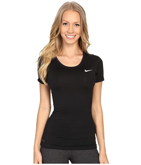 Nike Pro Cool Short Sleeve Shirt - Black/White