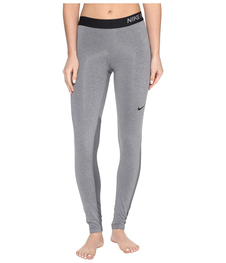 Nike Pro Cool Tights (Dark Grey/Heather/Dark Grey/Black) Women