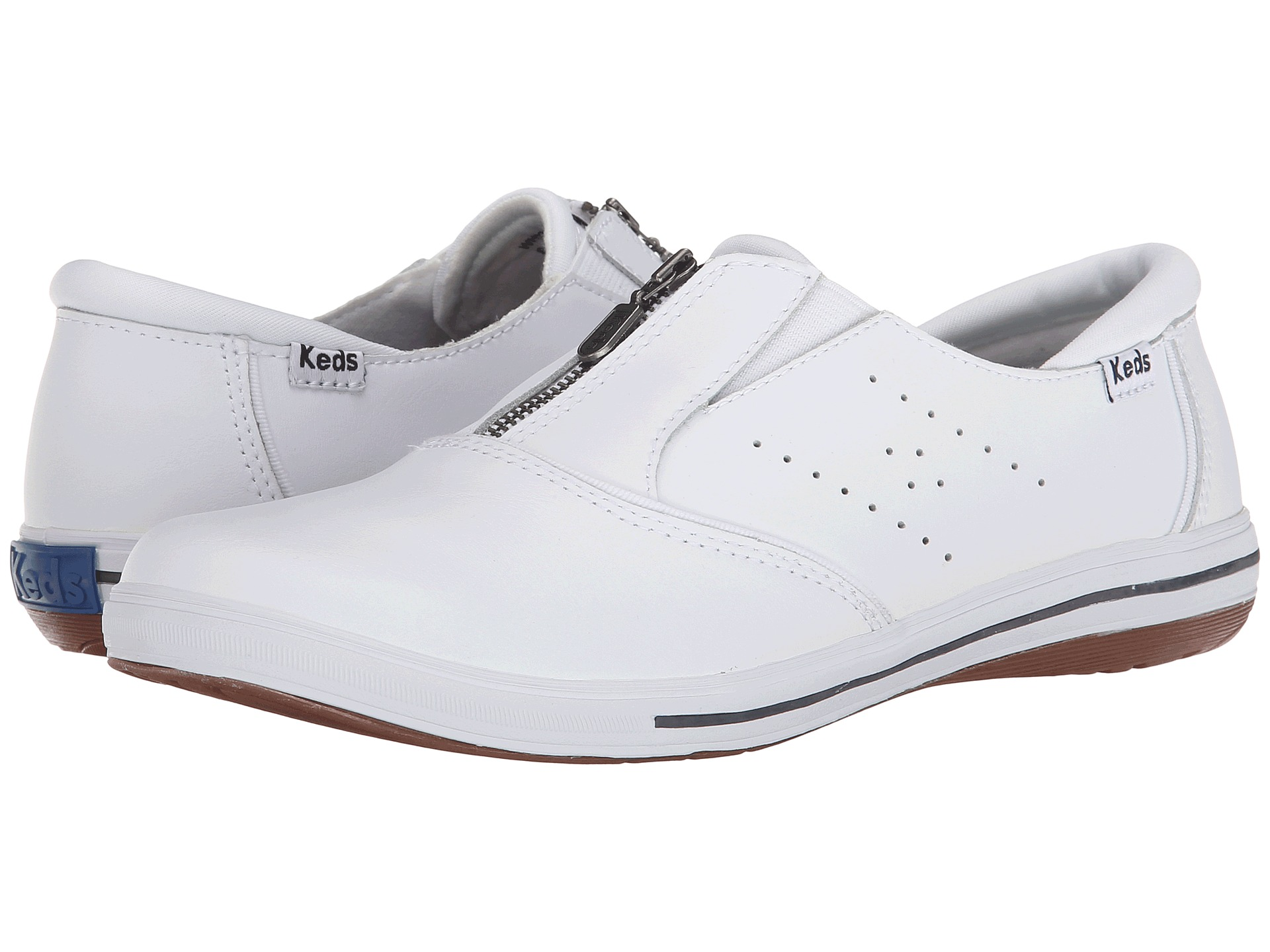 keds pacey zip smooth leather white zappos free