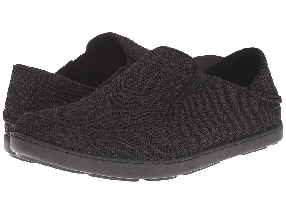 OluKai - Nohea Mesh (Onyx/Onyx) Mens Slip on  Shoes