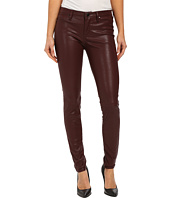 Blank NYC - Burgundy Five-Pocket Vegan Leather Pants in Going Downtown