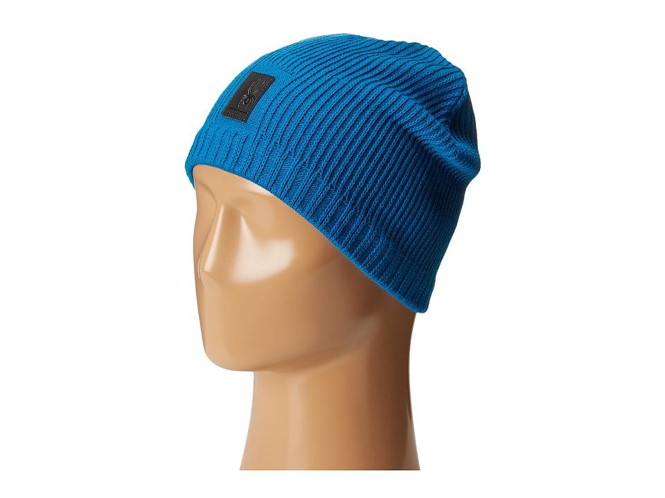 Spyder Bug Button Hat Concept Blue Beanies