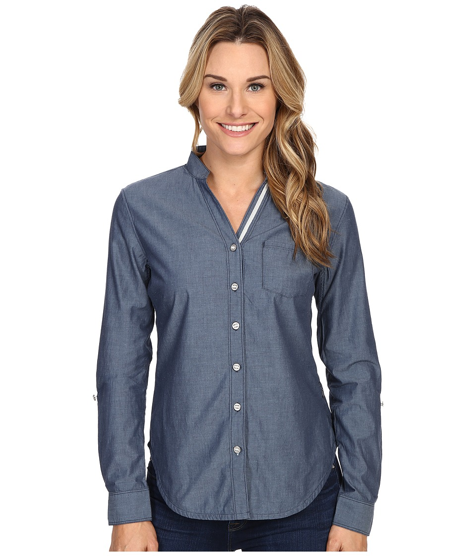 Black Diamond Chambray Modernist Shirt Captain Womens Long Sleeve Button Up