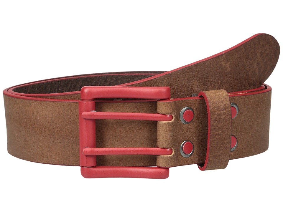 Bill Adler 1981 Electric Flag Brown/Red Mens Belts