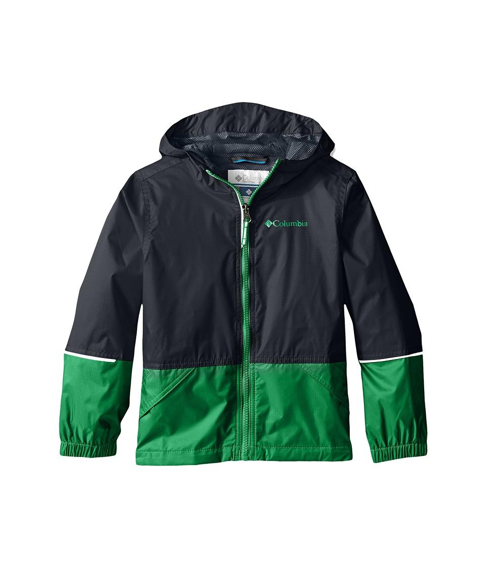 Columbia Kids - Hot on the Trail Rain Jacket (Little Kids/Big Kids) (Fuse Green/Graphite) Boy