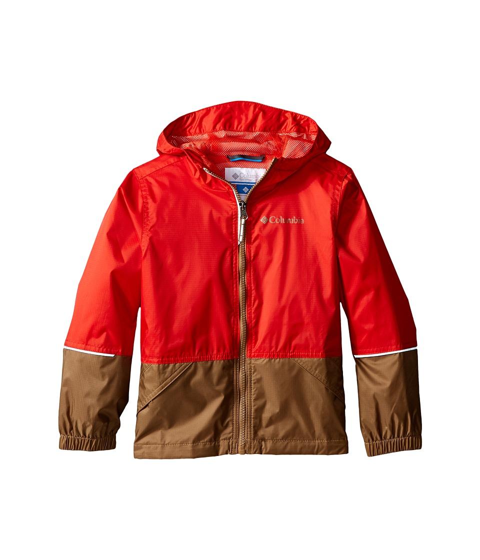 Columbia Kids - Hot on the Trail Rain Jacket (Little Kids/Big Kids) (Super Sonic/Delta) Boy