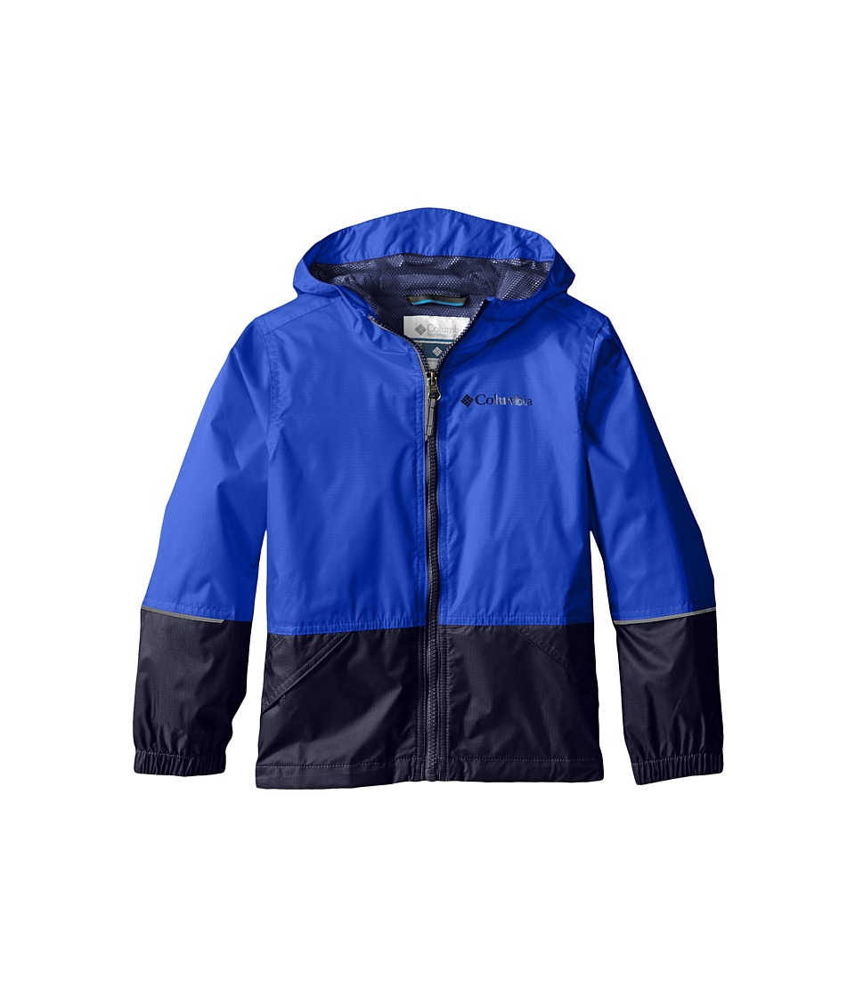 Columbia Kids - Hot on the Trail Rain Jacket (Little Kids/Big Kids) (Hyper Blue/Collegiate Navy) Boy