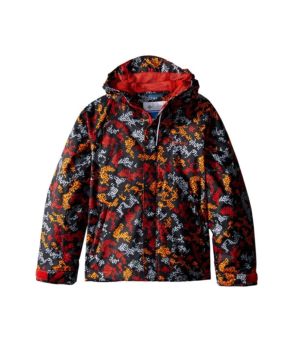 Columbia Kids Fast Curious Rain Jacket Little Kids/Big Kids Super Sonic Camo Boys Coat