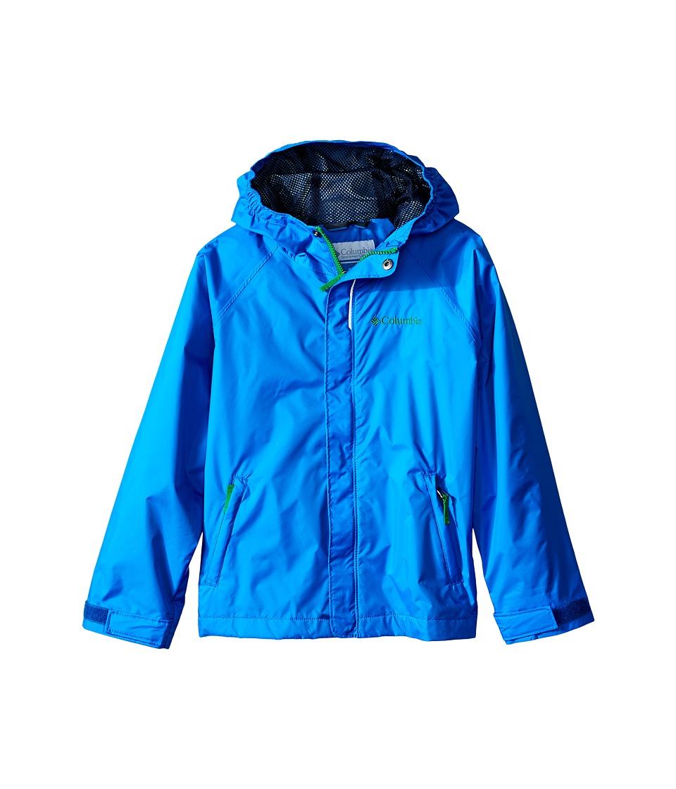 Columbia Kids Fast Curious Rain Jacket Little Kids/Big Kids Hyper Blue Invizzaprint Boys Coat