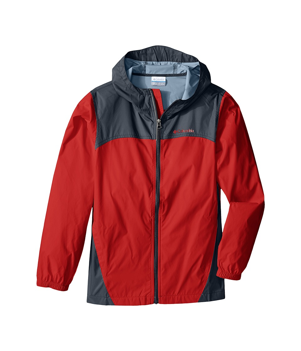 Columbia Kids - Glennaker Rain Jacket (Little Kids/Big Kids) (Super Sonic/Graphite) Boy