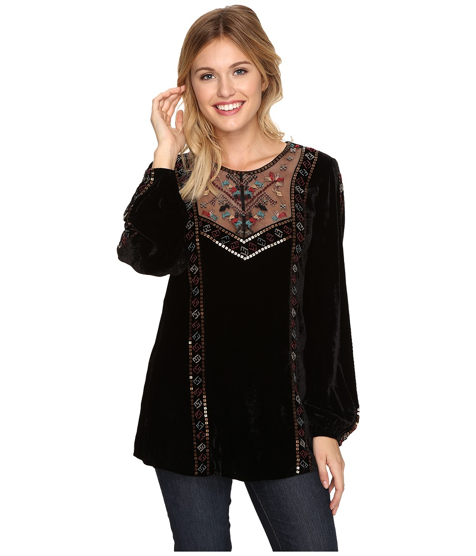 Double D Ranchwear Little Firefly Top Black Womens Clothing