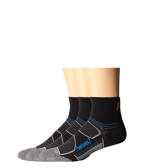 Feetures Eliter Ultra Light Quarter 3-Pair Pack - Black/Reflector