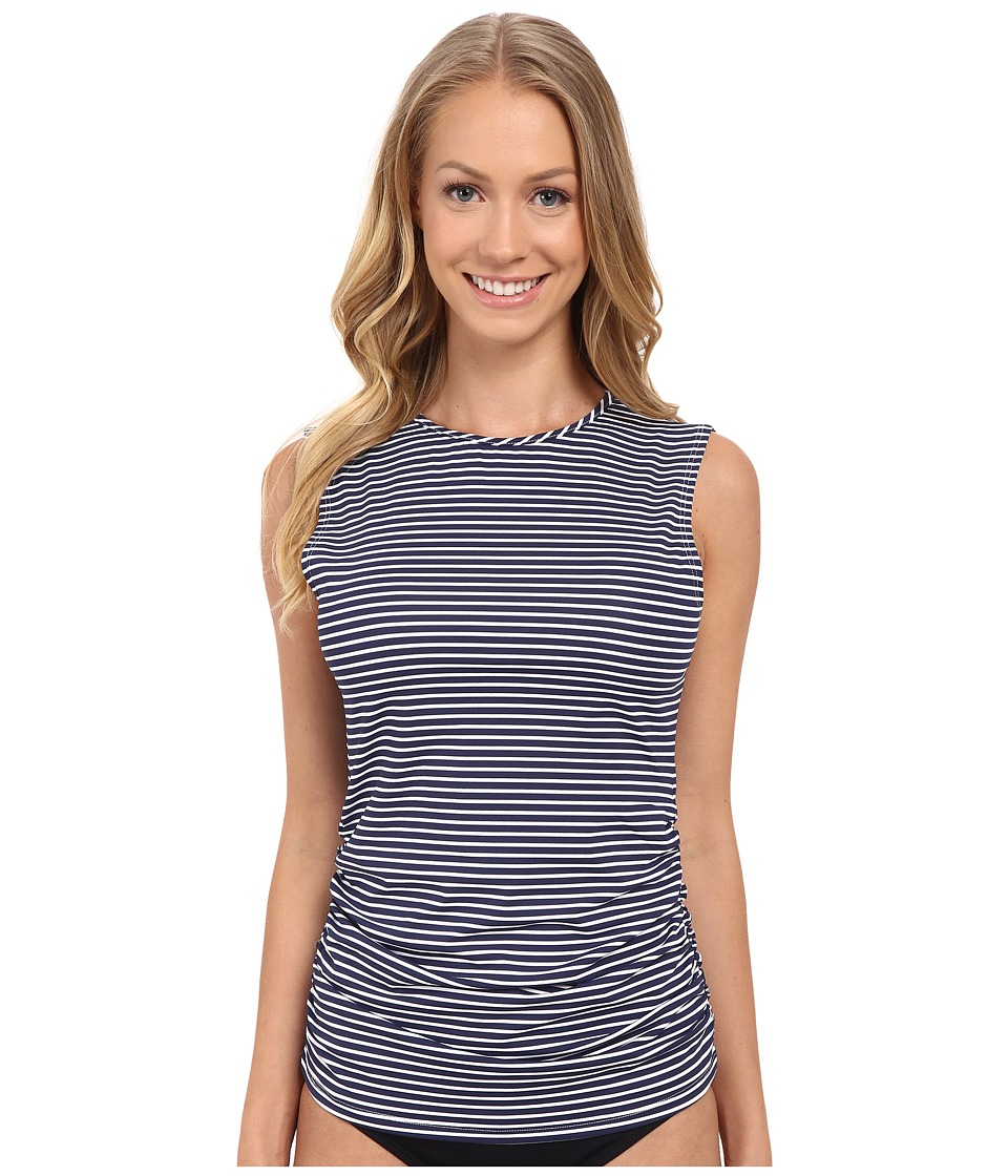 Carve Designs Suncatcher Rashguard Anchor Stripe Womens Swimwear